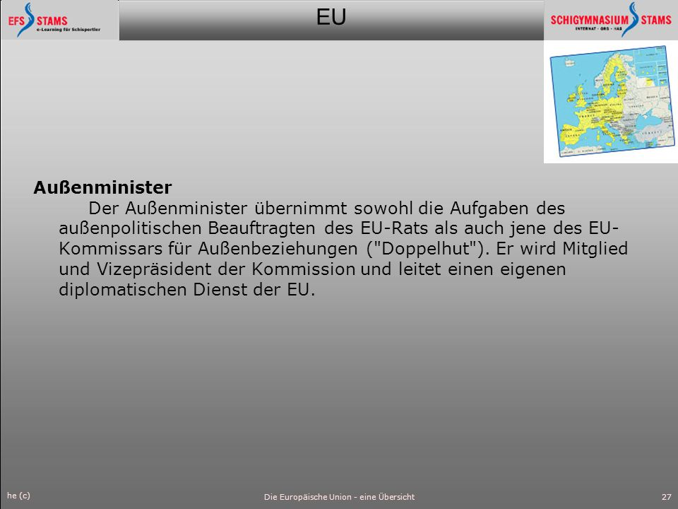 Die Europäische Union - eine Übersicht