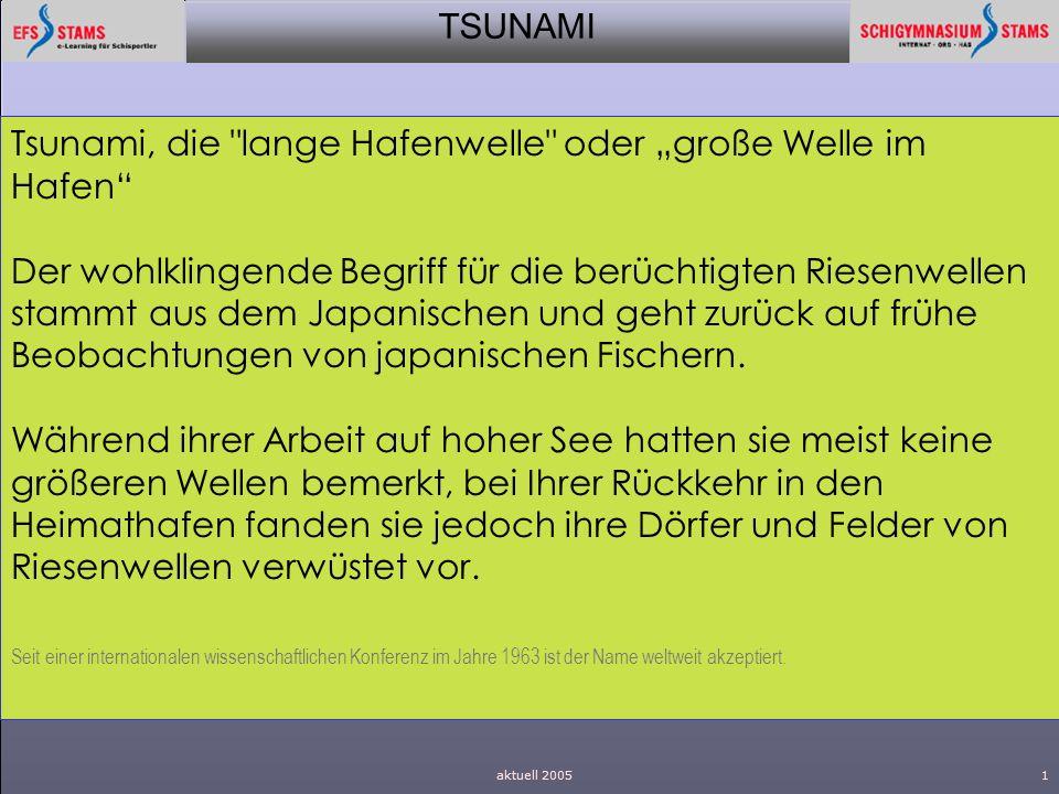 """Tsunami, die lange Hafenwelle oder """"große Welle im Hafen"""
