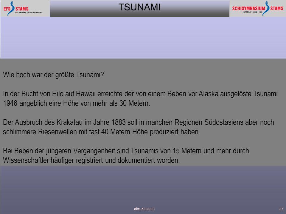 Wie hoch war der größte Tsunami
