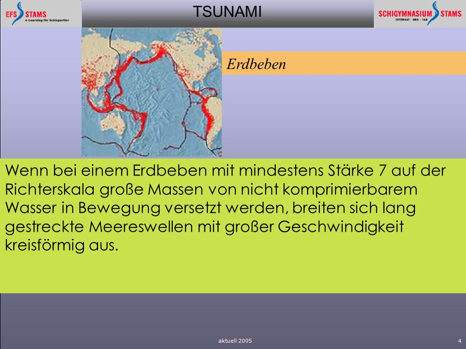Erdbeben.