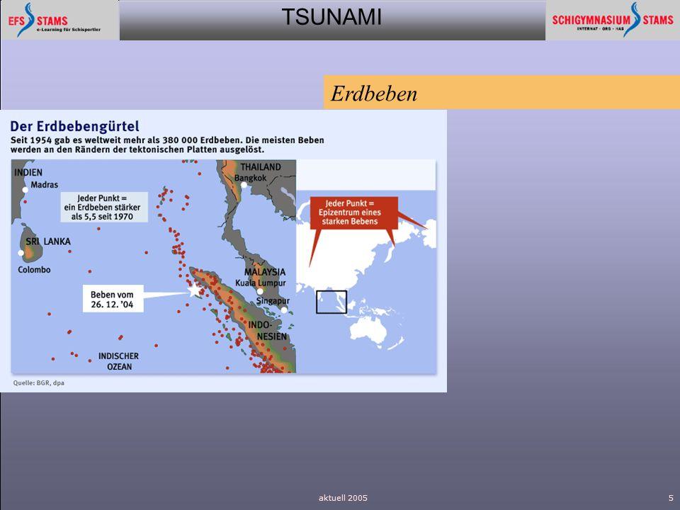 Erdbeben aktuell 2005