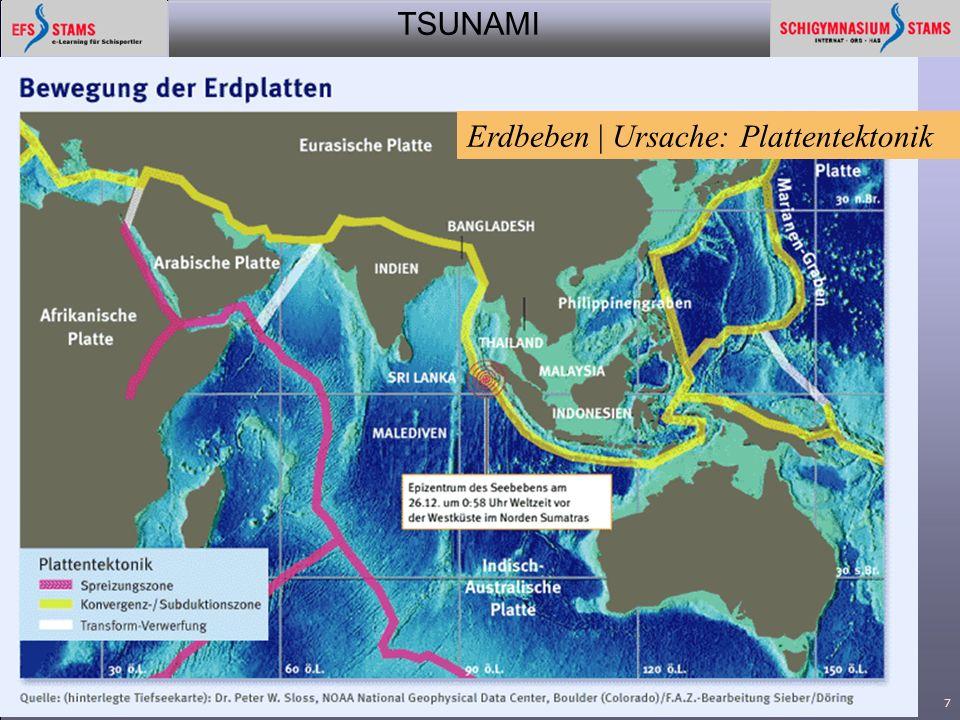 Erdbeben | Ursache: Plattentektonik