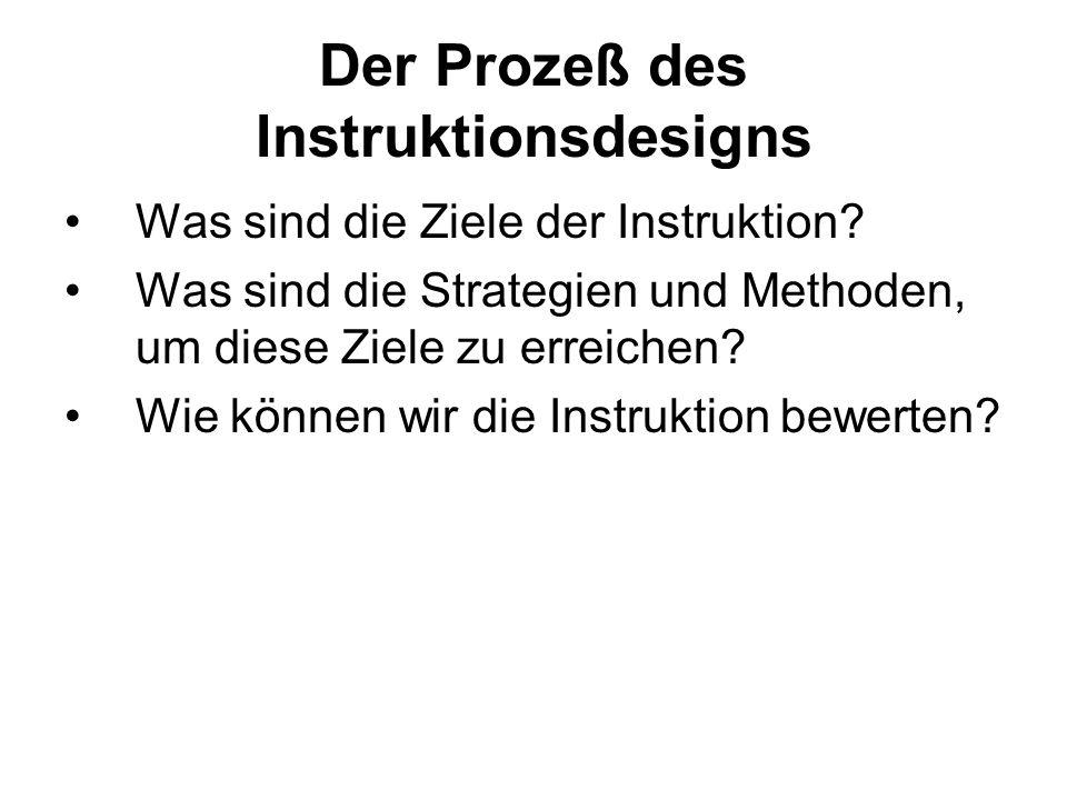 Der Prozeß des Instruktionsdesigns