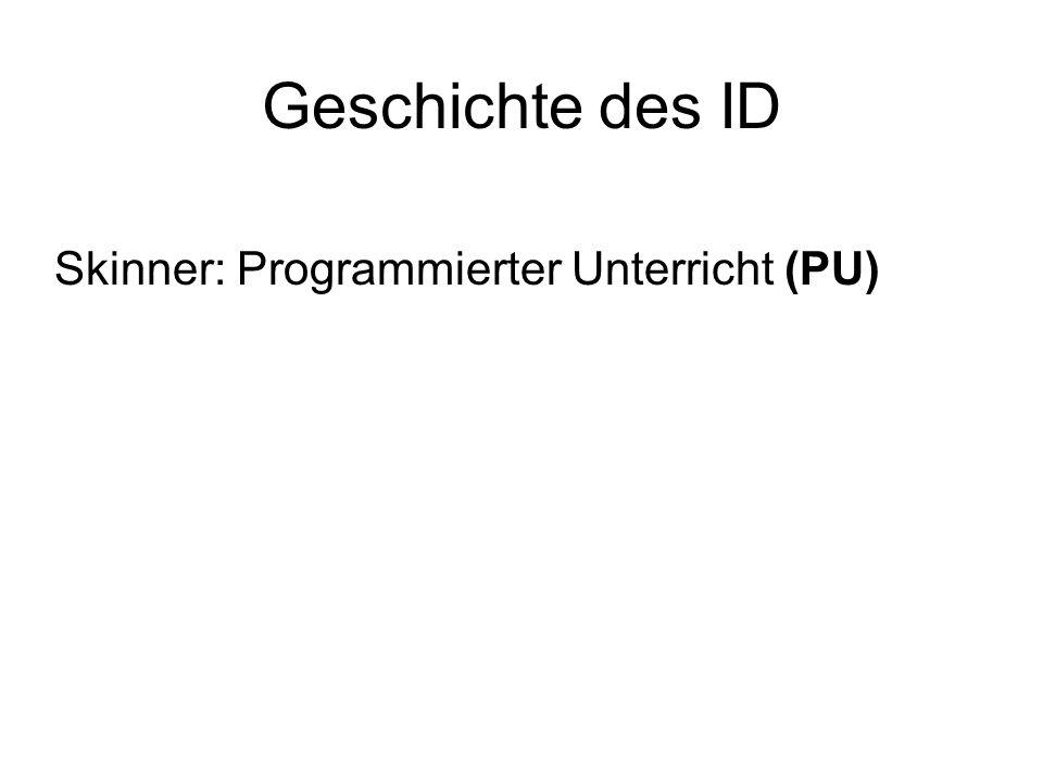 Skinner: Programmierter Unterricht (PU)