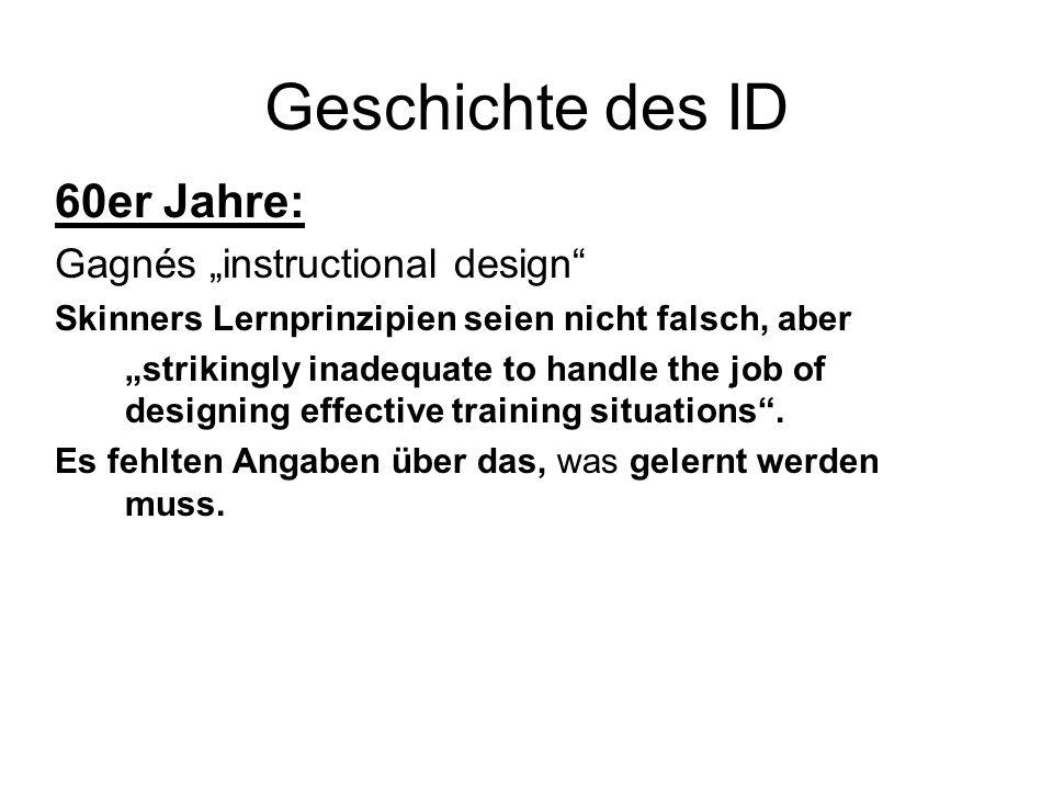 "Geschichte des ID 60er Jahre: Gagnés ""instructional design"