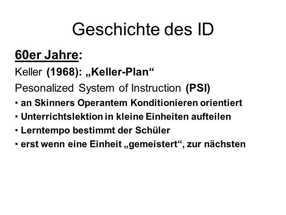 """Geschichte des ID 60er Jahre: Keller (1968): """"Keller-Plan"""