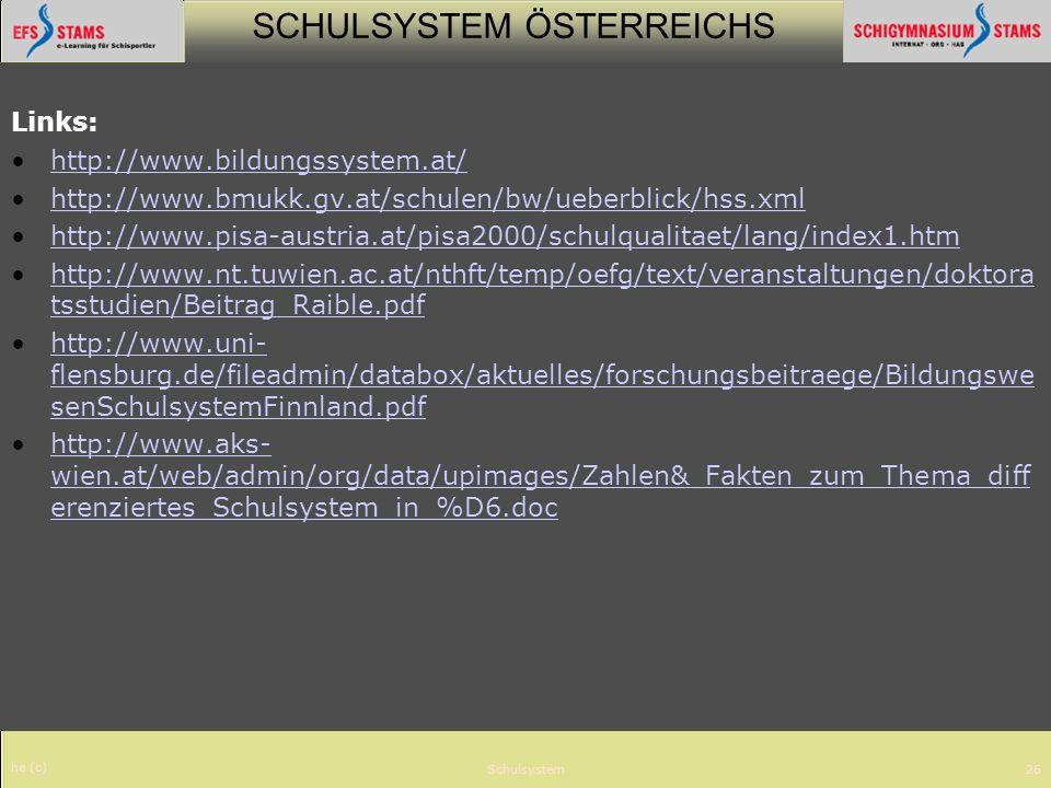 Links: http://www.bildungssystem.at/