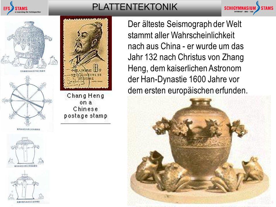 Der älteste Seismograph der Welt stammt aller Wahrscheinlichkeit