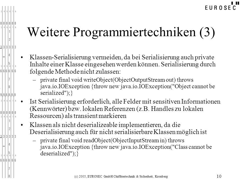 Weitere Programmiertechniken (3)