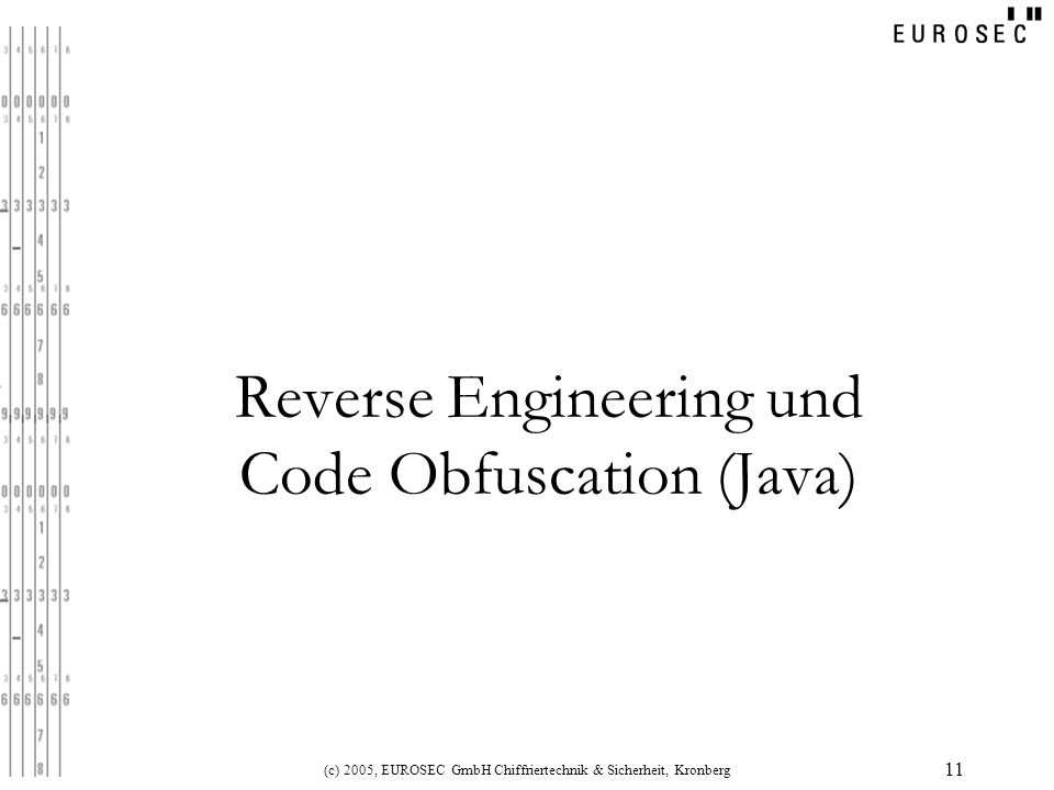 Reverse Engineering und Code Obfuscation (Java)