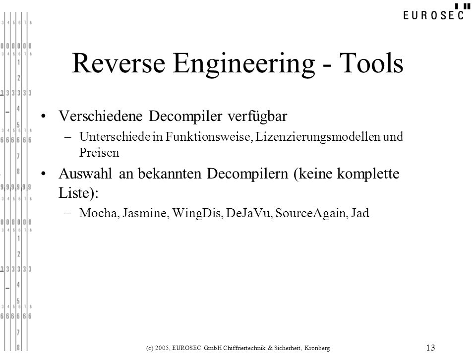 Reverse Engineering - Tools