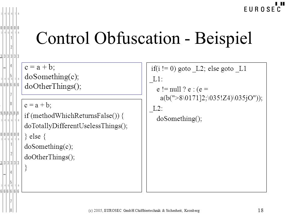 Control Obfuscation - Beispiel