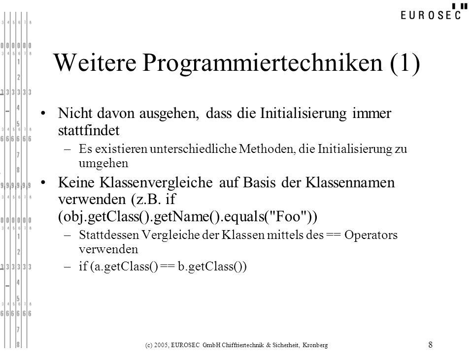 Weitere Programmiertechniken (1)