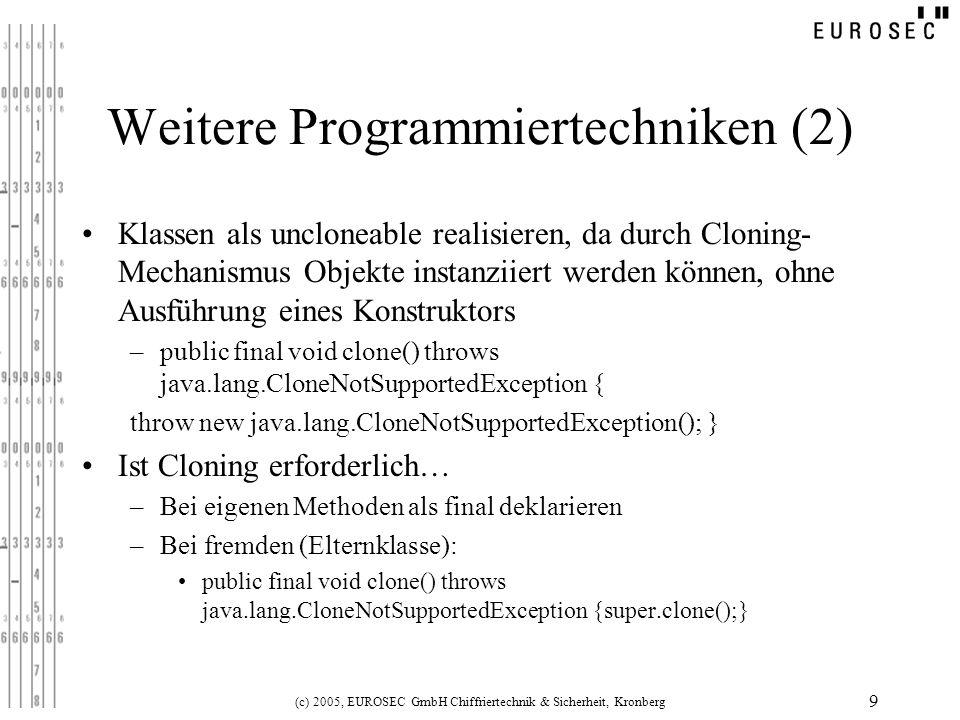 Weitere Programmiertechniken (2)