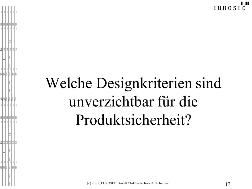 Welche Designkriterien sind unverzichtbar für die Produktsicherheit