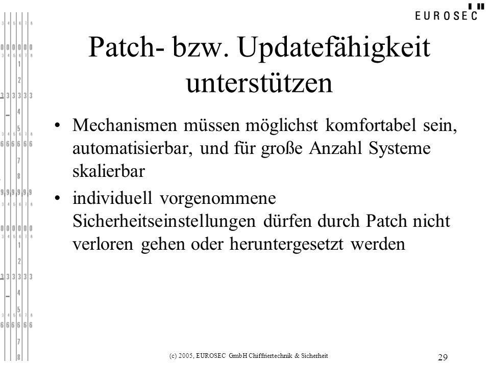 Patch- bzw. Updatefähigkeit unterstützen