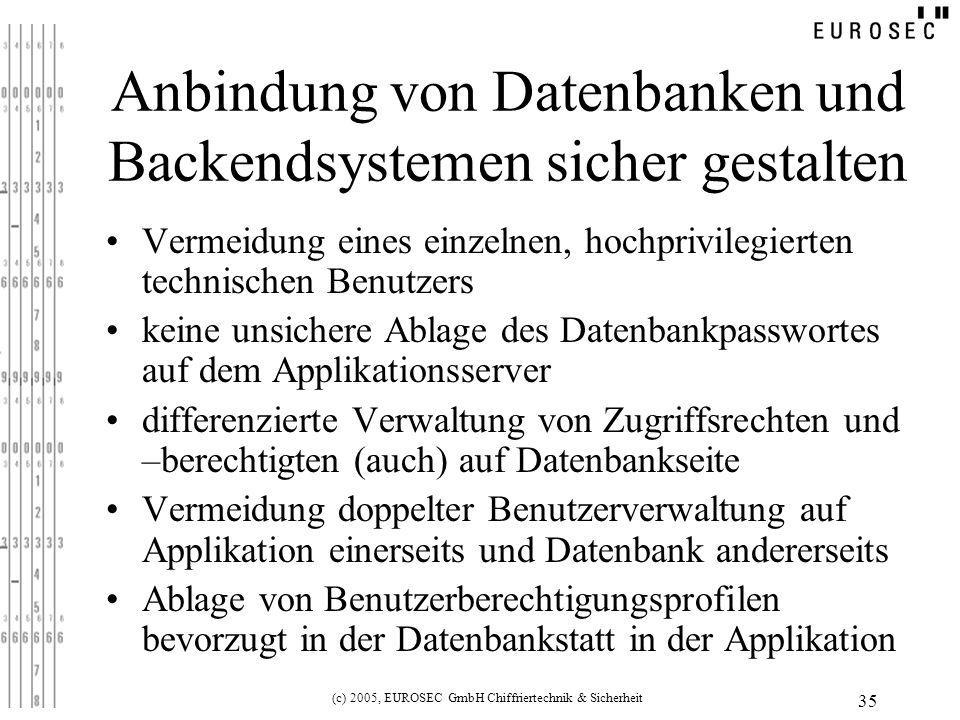 Anbindung von Datenbanken und Backendsystemen sicher gestalten