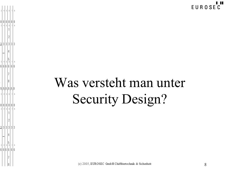 Was versteht man unter Security Design