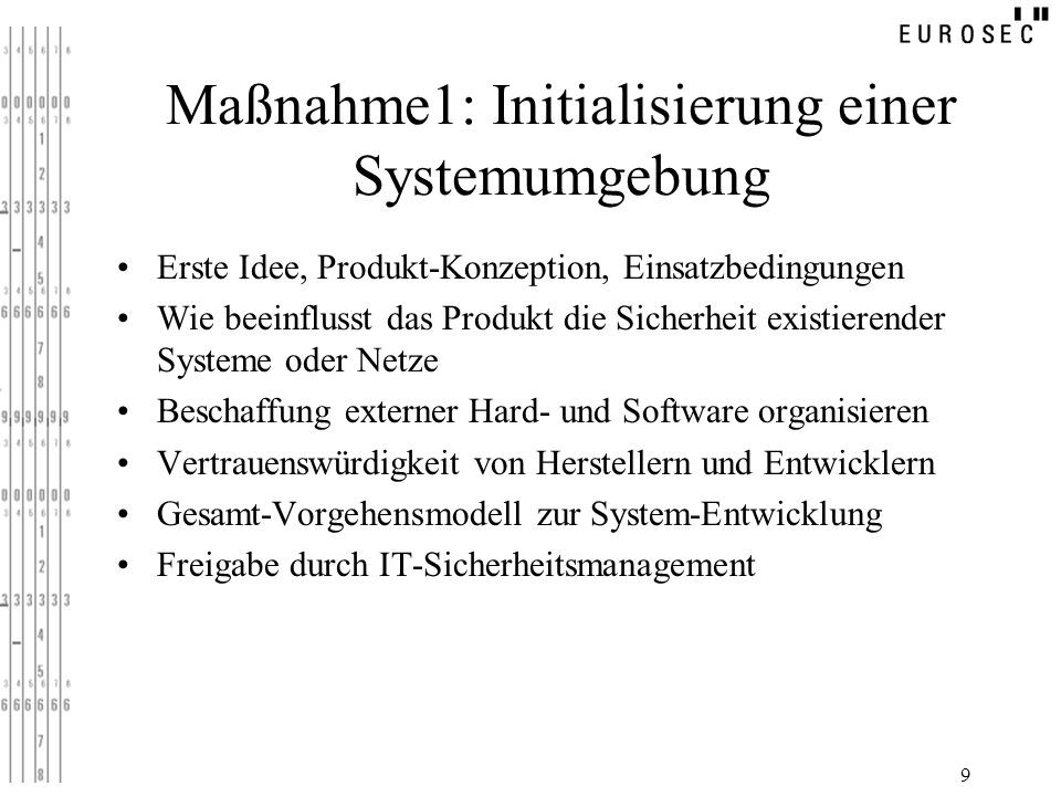 Maßnahme1: Initialisierung einer Systemumgebung
