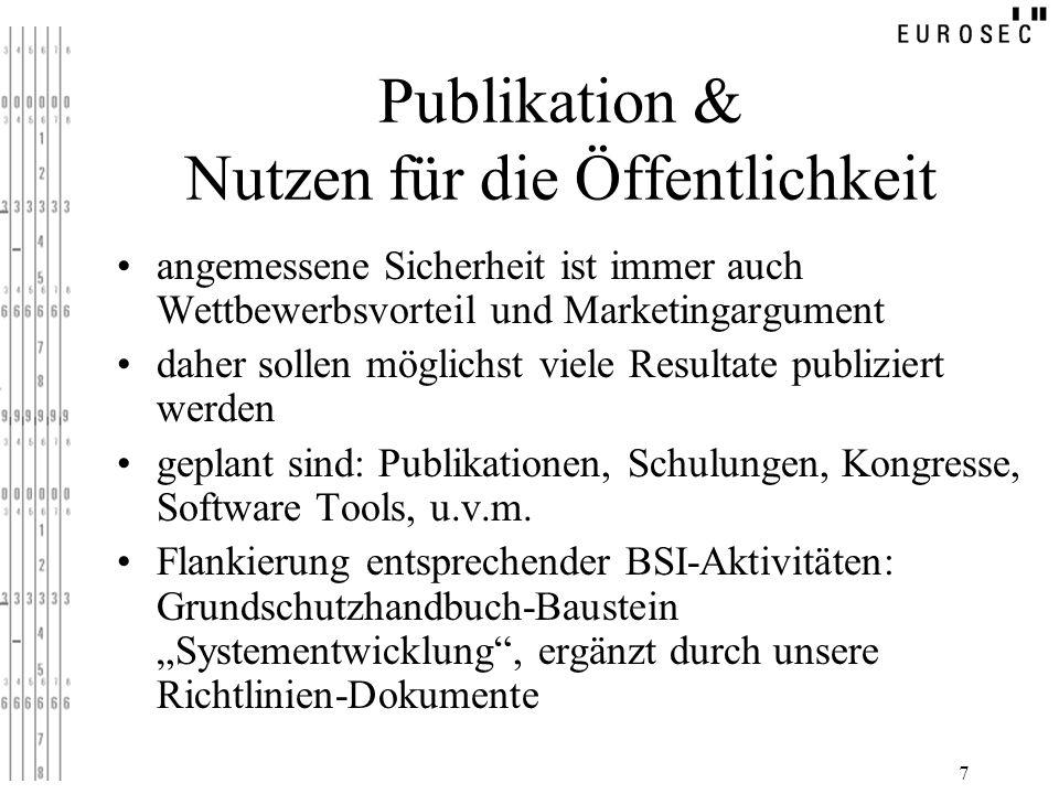 Publikation & Nutzen für die Öffentlichkeit
