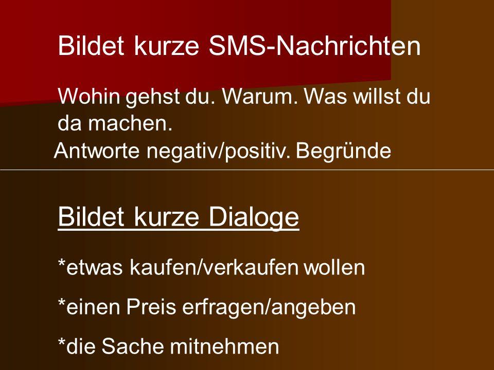 Bildet kurze SMS-Nachrichten
