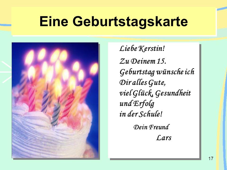 Eine Geburtstagskarte