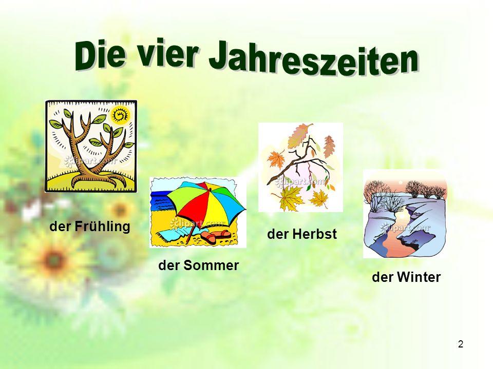 Die vier Jahreszeiten der Frühling der Herbst der Sommer der Winter