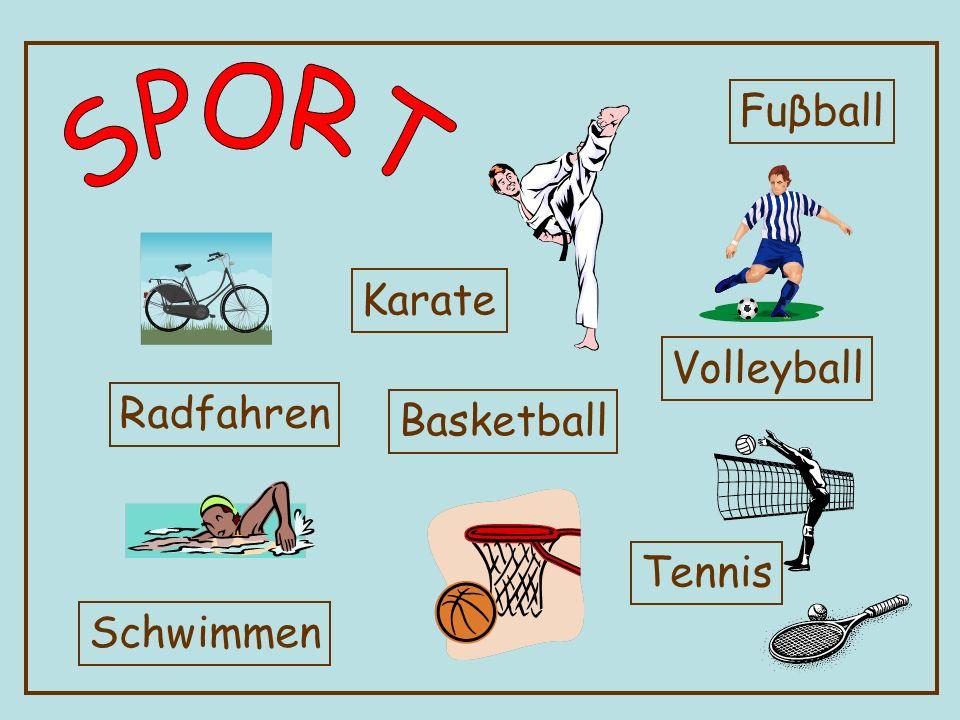 Fuβball SPORT Karate Volleyball Radfahren Basketball Tennis Schwimmen