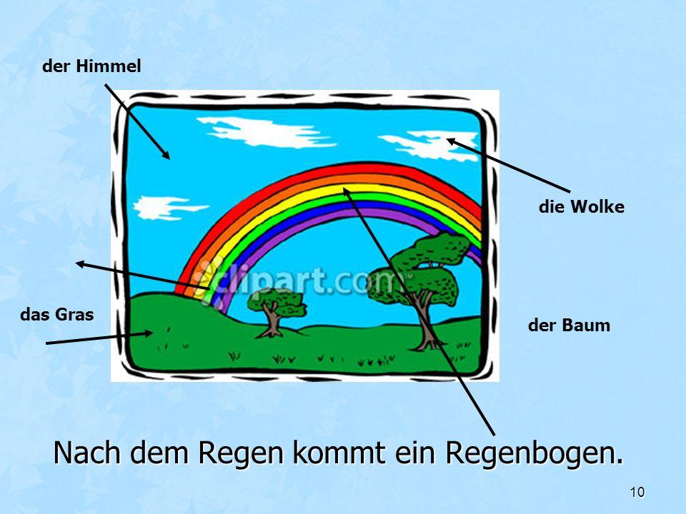 Nach dem Regen kommt ein Regenbogen.