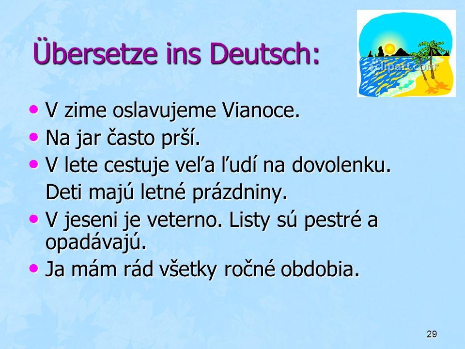 Übersetze ins Deutsch: