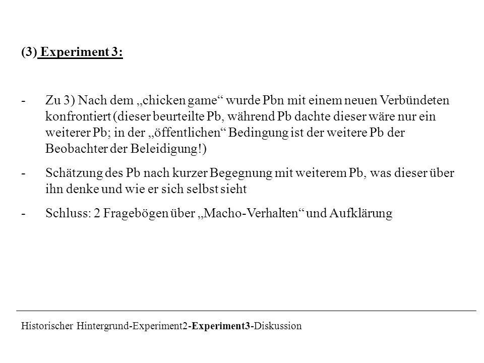 """Schluss: 2 Fragebögen über """"Macho-Verhalten und Aufklärung"""