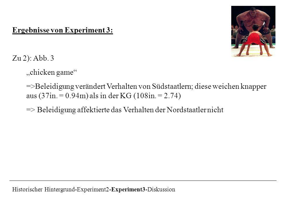 Ergebnisse von Experiment 3: