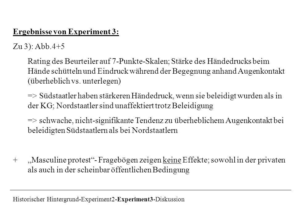 Ergebnisse von Experiment 3: Zu 3): Abb.4+5