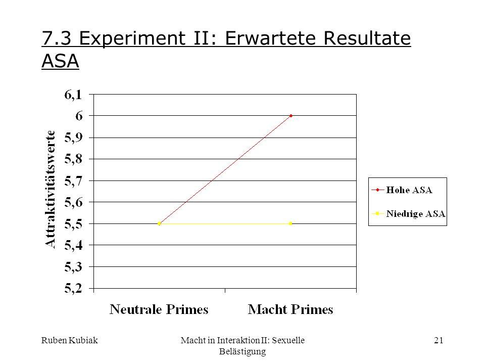 7.3 Experiment II: Erwartete Resultate ASA