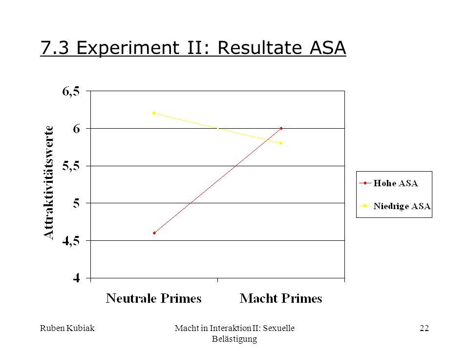 7.3 Experiment II: Resultate ASA
