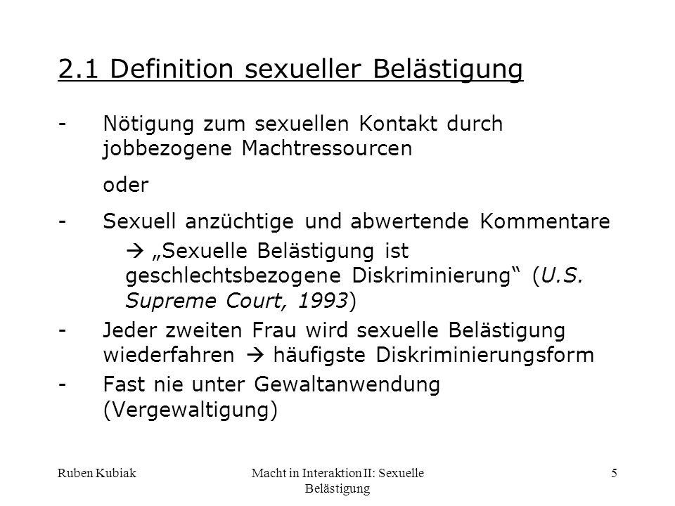 2.1 Definition sexueller Belästigung