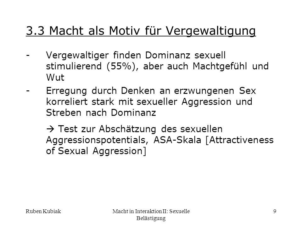 3.3 Macht als Motiv für Vergewaltigung