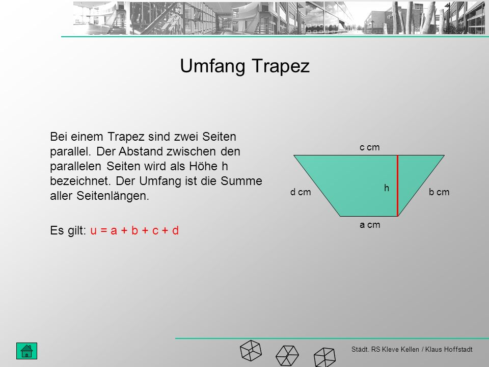 Umfang Trapez