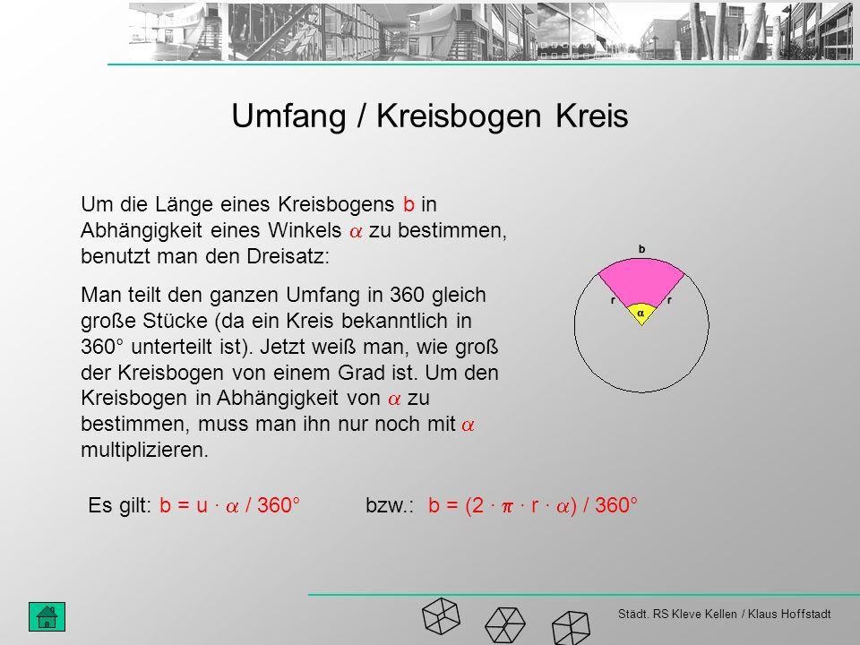 Umfang / Kreisbogen Kreis