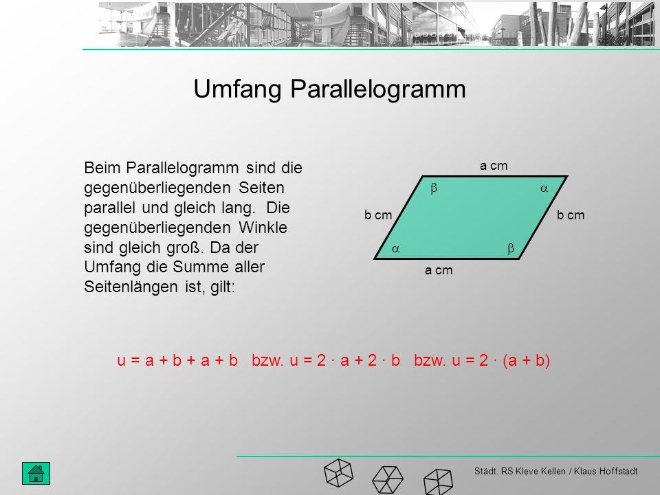 Umfang Parallelogramm