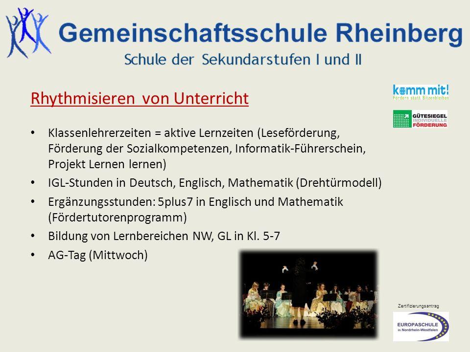 Rhythmisieren von Unterricht