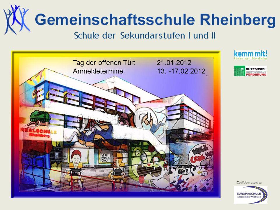 Tag der offenen Tür: 21.01.2012 Anmeldetermine: 13. -17.02.2012