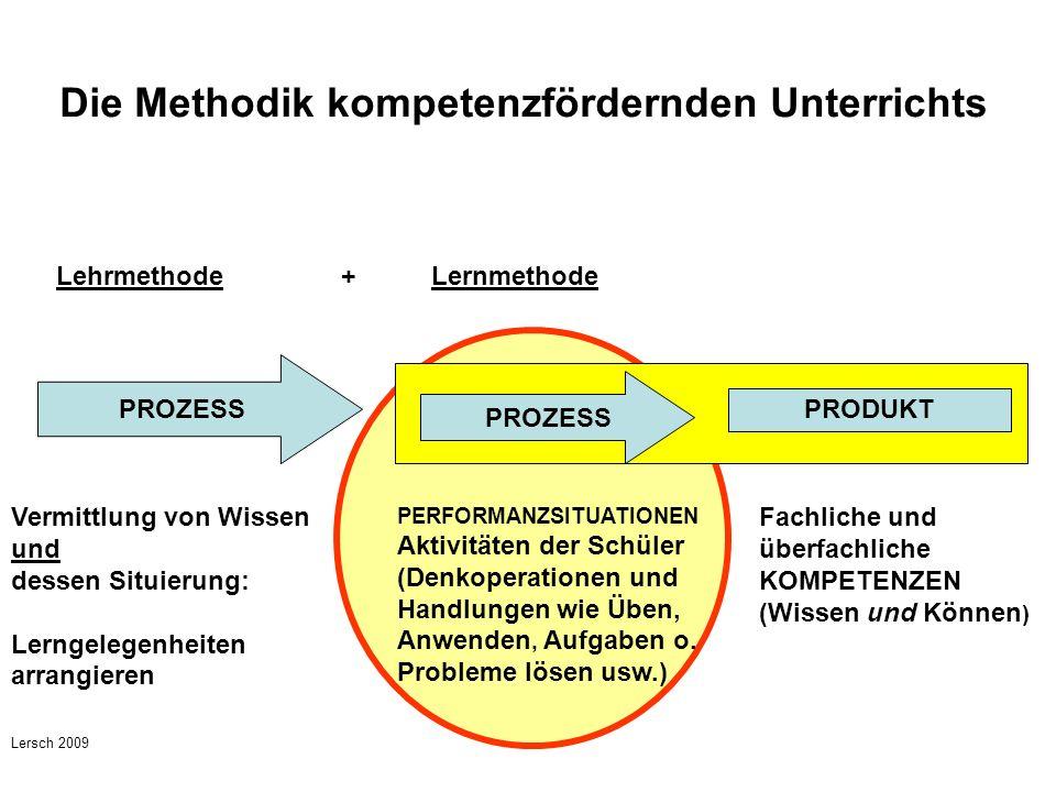 Die Methodik kompetenzfördernden Unterrichts