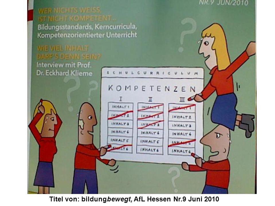 Titel von: bildungbewegt, AfL Hessen Nr.9 Juni 2010