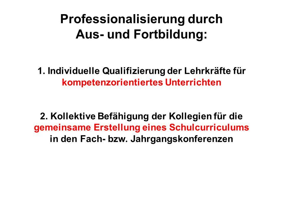 Professionalisierung durch Aus- und Fortbildung: