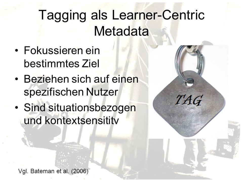 Tagging als Learner-Centric Metadata