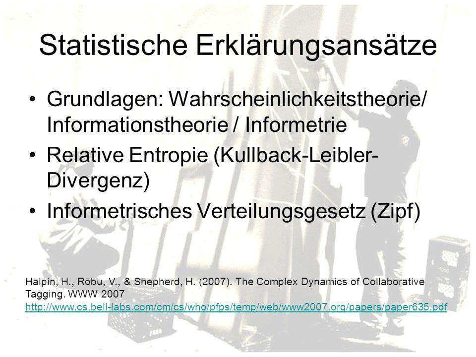 Statistische Erklärungsansätze