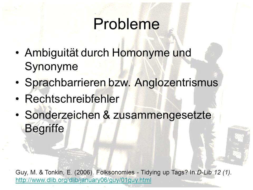 Probleme Ambiguität durch Homonyme und Synonyme