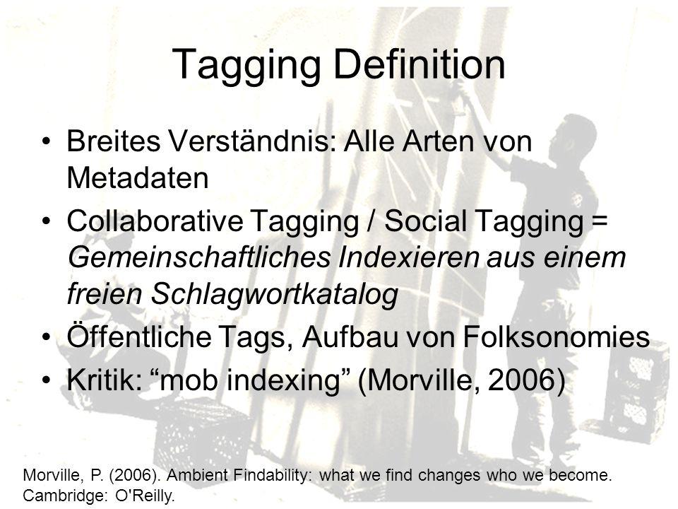 Tagging Definition Breites Verständnis: Alle Arten von Metadaten