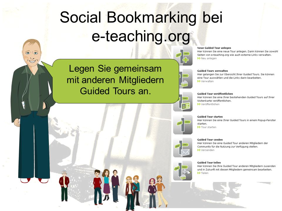 Social Bookmarking bei e-teaching.org